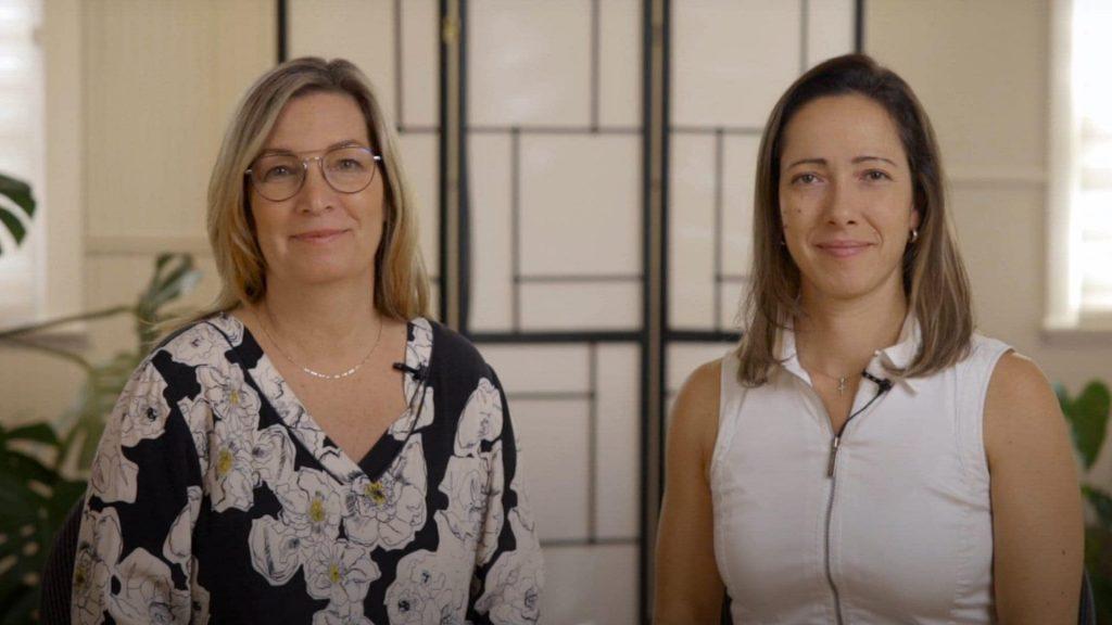 Michèle Corbeil et Constandina Mourelatos en image de présentation vidéo